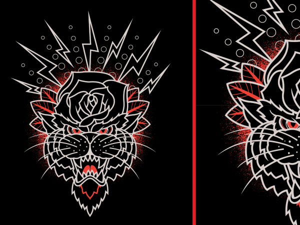 Mister Roser Panther Tshirt Design
