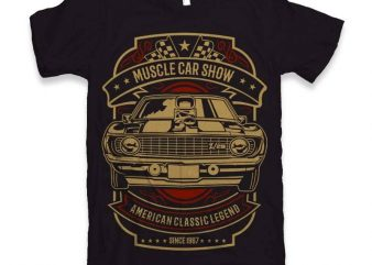 Muscle Car Show t-shirt design