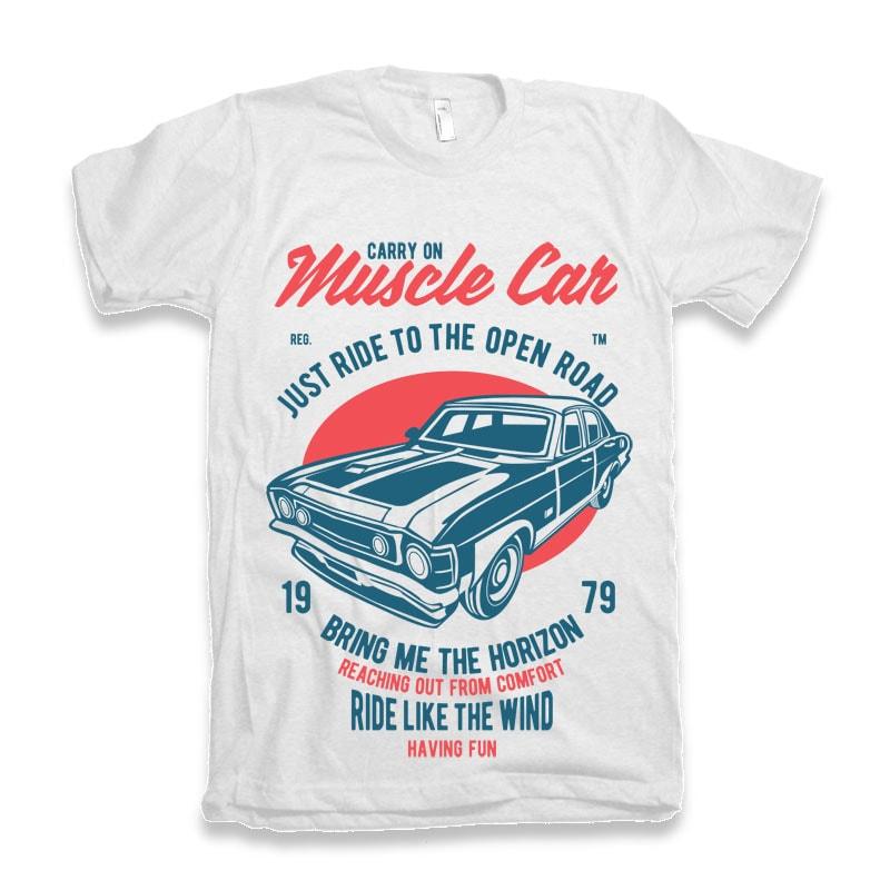 Muscle Car T-shirt Design t shirt design graphic