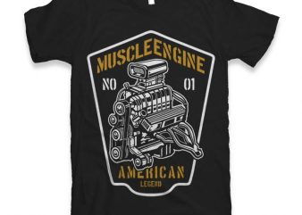 Muscle Engine Graphic tee design