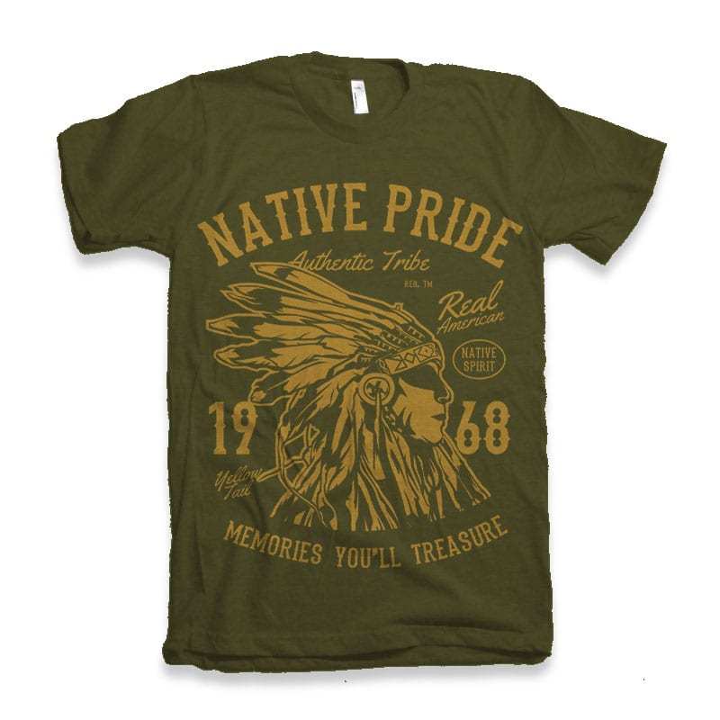 Native Pride Tshirt design t shirt design graphic
