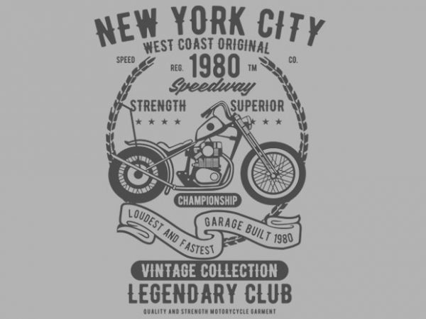 New York City Speedway T-shirt design