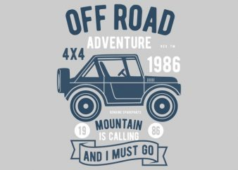 Off Road Adventure Tshirt Design