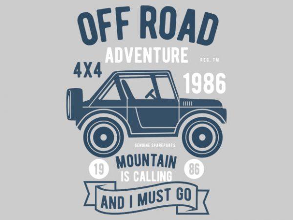 Off Road Adventure Tshirt Design