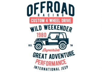 Off Road Racing T-shirt design