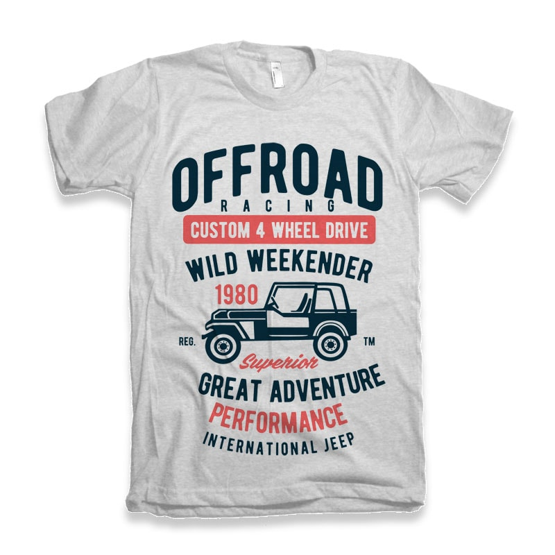 Off Road Racing T-shirt design buy tshirt design