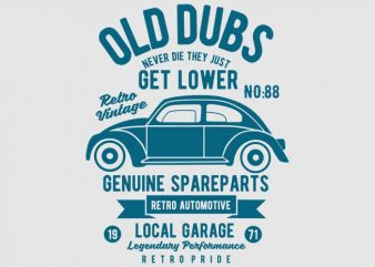Old Dubs Vector T-shirt Design