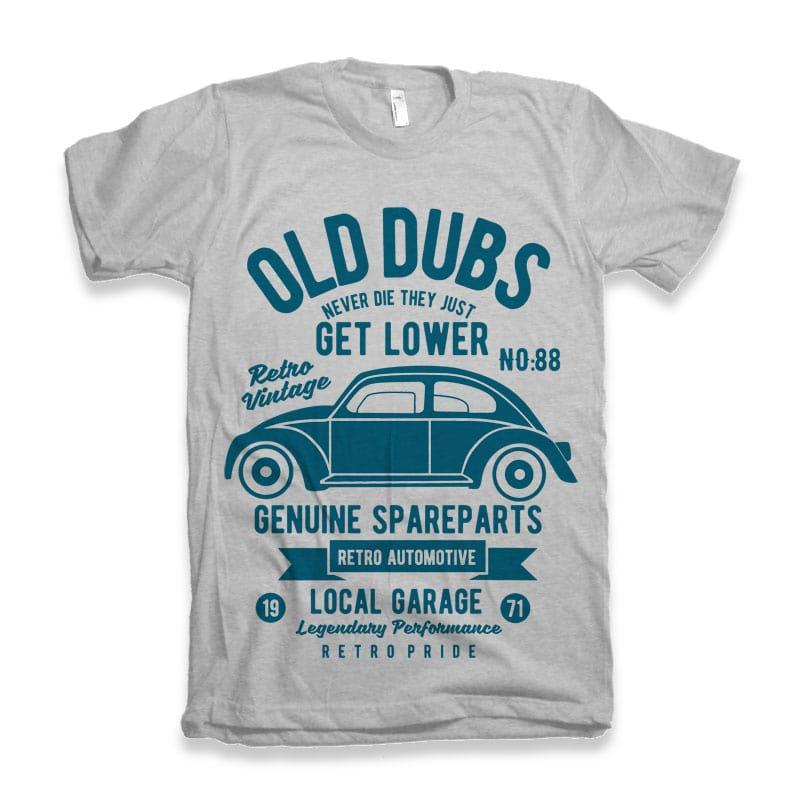 Old Dubs Vector T-shirt Design buy tshirt design