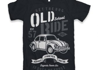 Old School Ride T-shirt design