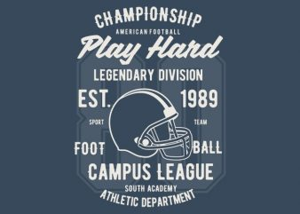 Play Hard Football t-shirt design