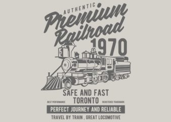 Premium Railroad t-shirt design