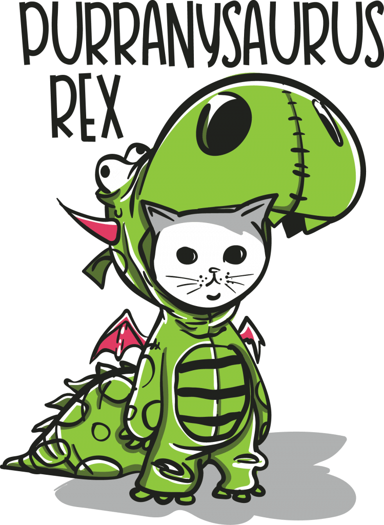 Purranysaurus rex t-shirt designs for merch by amazon