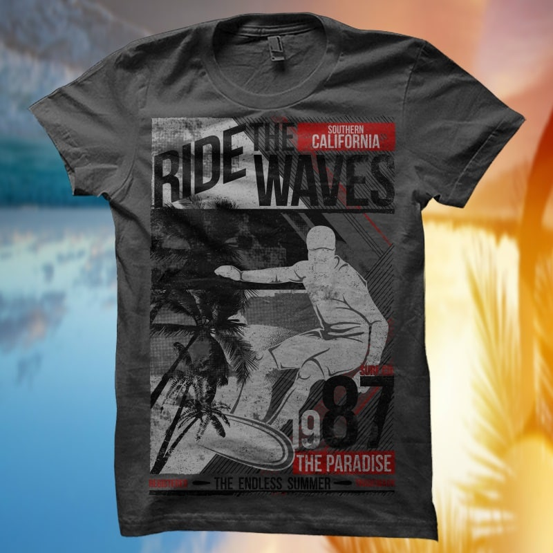 Exclusive T-Shirt Design Bundle – Surfing Themes – Volume 1