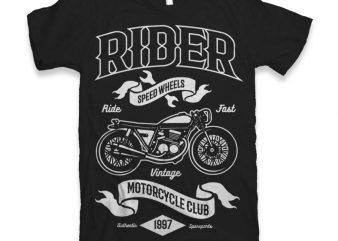 Rider Vector t-shirt design