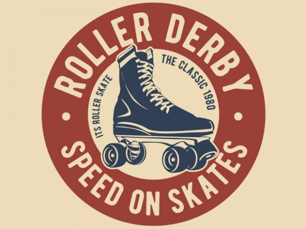 Roller Derby vector t-shirt design