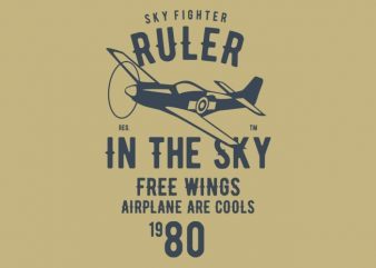 Ruler In The Sky t-shirt design