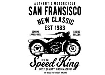San Fransisco Motorcycle buy t shirt design