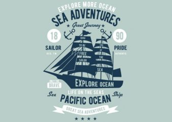 Sea Adventures t-shirt design