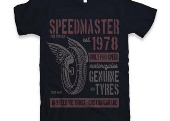 Speed Master Graphic tee design