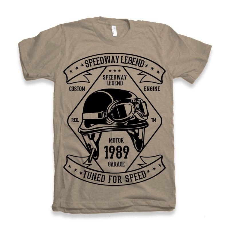 Speedway Legend Helmet t-shirt design tshirt design for merch by amazon