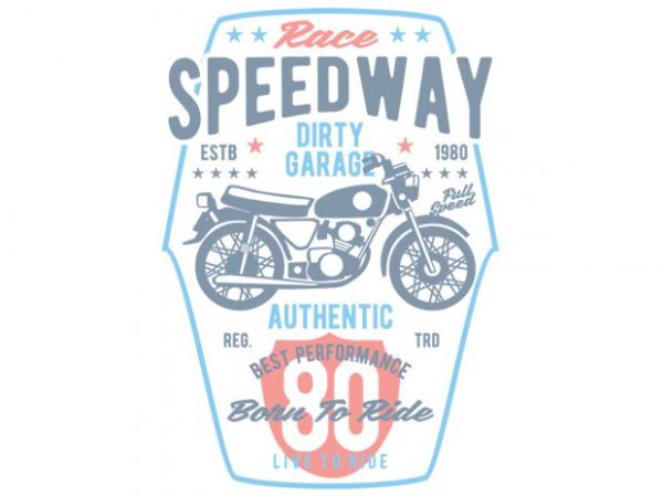Speedway Motorcycle t-shirt design