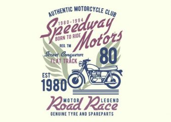Speedways Motor T-shirt design