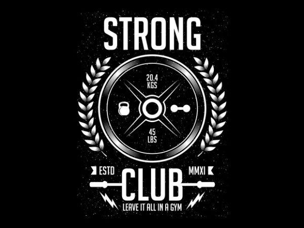 Strong Club t shirt template vector