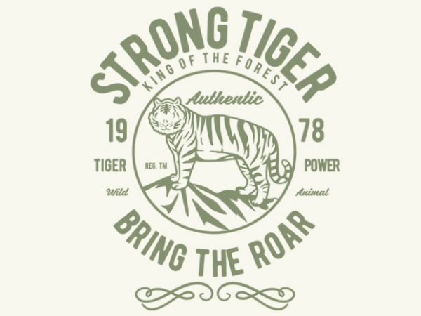Strong Tiger vector tshirt design