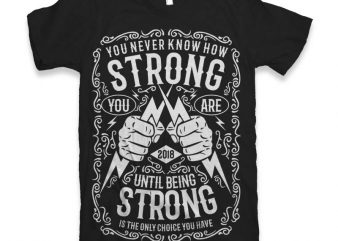 Strong Vector t-shirt design