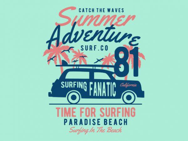 Summer Adventure tshirt design