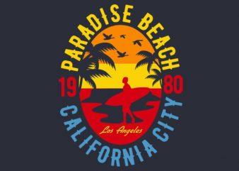 Sunshine Paradise tshirt design