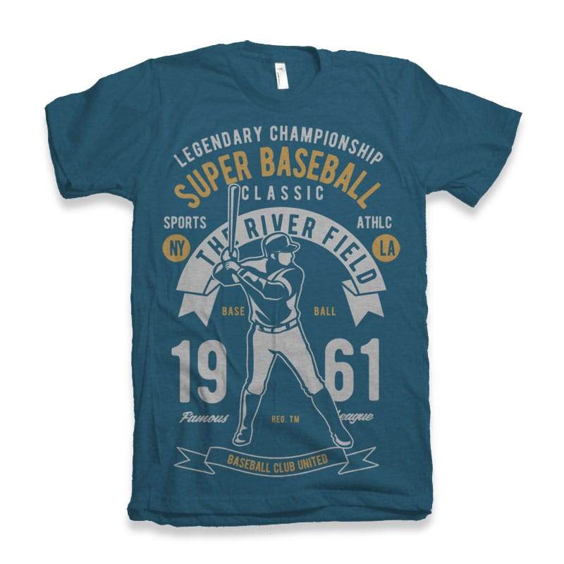Super Baseball tshirt design t shirt designs for teespring
