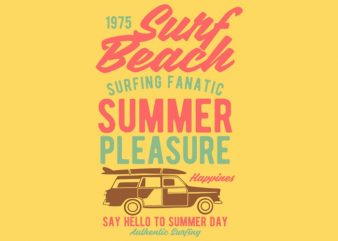Surf Beach t-shirt design