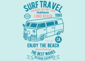 Surf Travel tshirt design