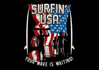 The Surfin U.S vector t-shirt design