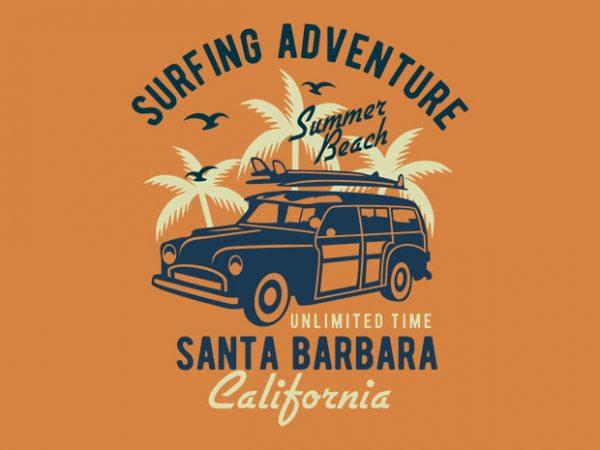 Surfing Adventure t-shirt design