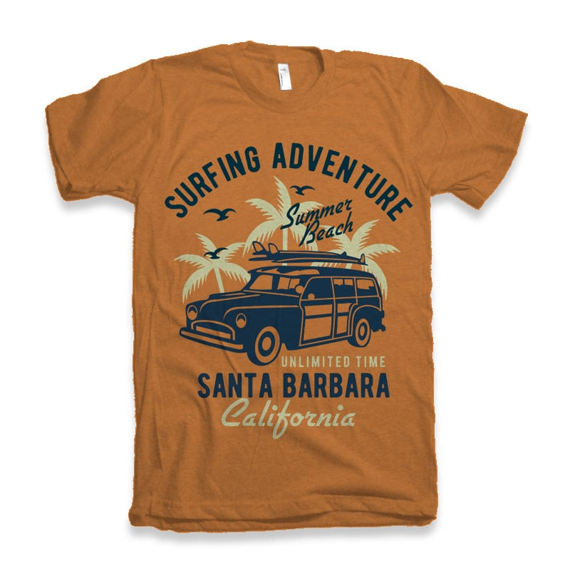 Surfing Adventure t-shirt design commercial use t shirt designs