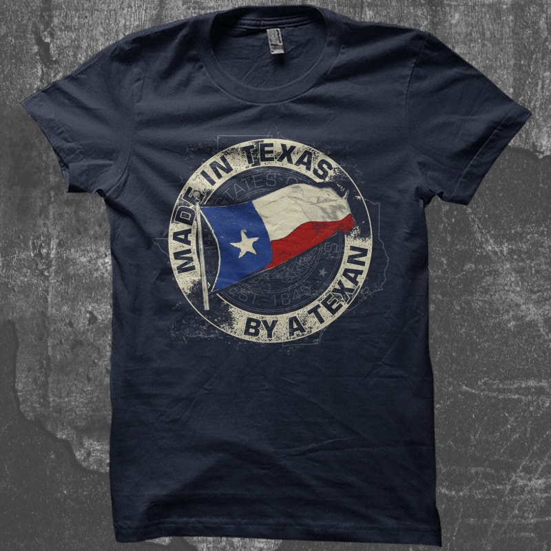 Made In TEXAS By A Texan buy t shirt design