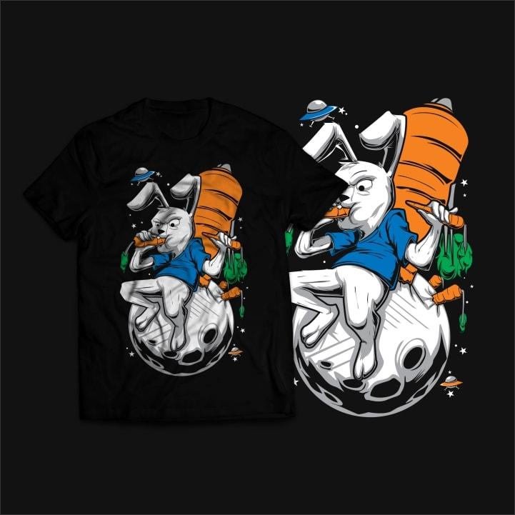 Moon Rabbit T-Shirt Design buy t shirt design