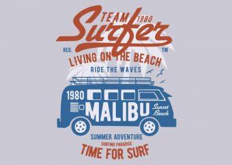 Team Surfer 1980 t-shirt design