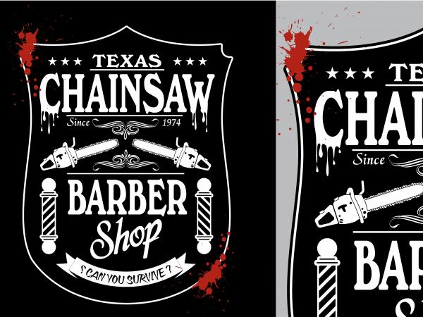 Texas Chainsaw Barber Tshirt Design