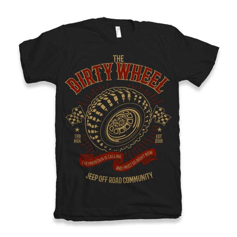 The Dirty Wheel t-shirt design t shirt design png