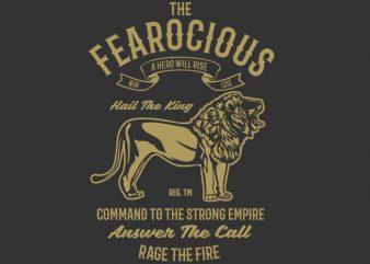 The Fearocious tshirt design