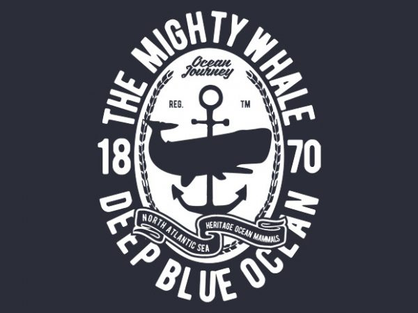 The Mighty Whale t-shirt design