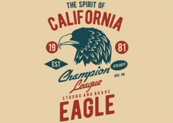 The Spirit Of California t-shirt design