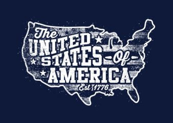 The United States Of America Est 1776 t shirt designs for sale
