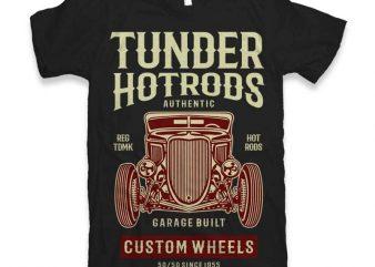 Thunder Hot Rods Vector t-shirt design