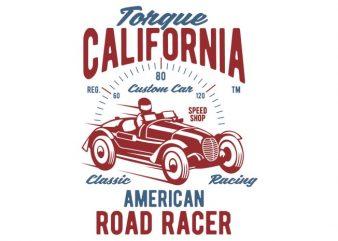 Torque California tshirt design