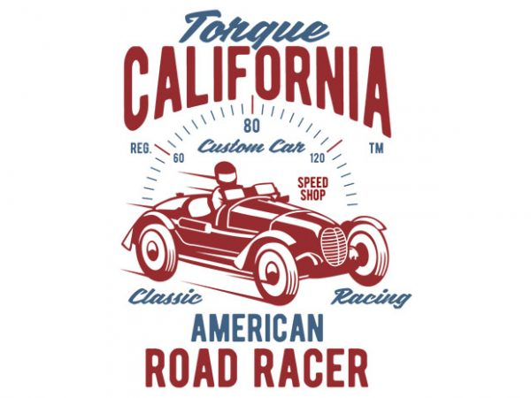 Torque California tshirt design