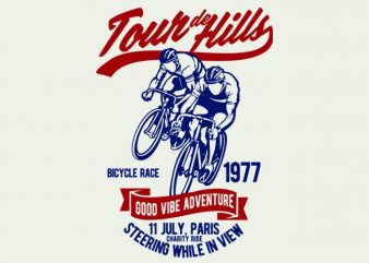 Tour De Hills t-shirt design